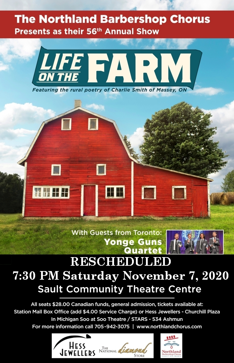 2020 Show Poster - Life on the Farm - Rescheduled