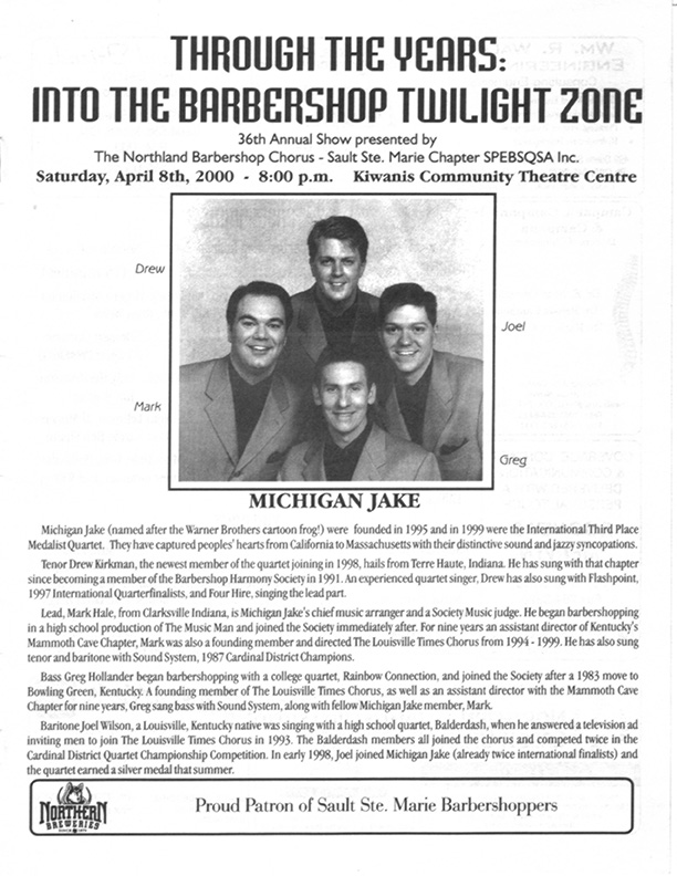 2000 - Through The Years - Into the Barbershop Twilight Zone.jpg