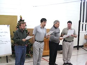 Sean McMurray Bob Shami Bruce Clarida Loyal Beggs Teaching Quartet Nov. 2003.jpg