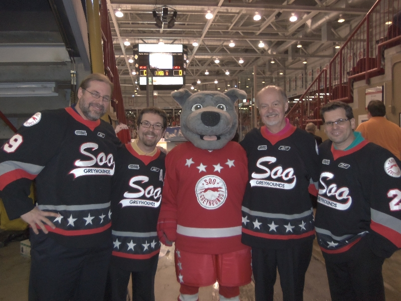 2012 - Foreign Accord  perform anthem at Soo Greyhound game - Jan.15 2012