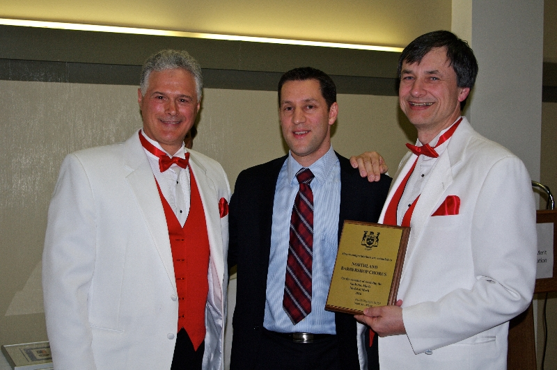 Accepting Plaque from MP David Orazietti - May 7 2011