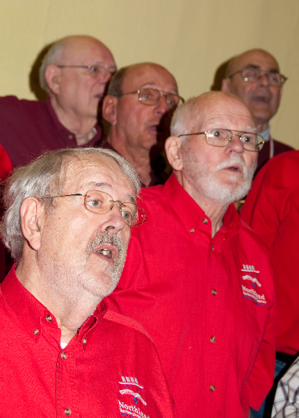 2010 - Joint rehearsal in St. Ignace with Alpena and Gaylord Chapters Jim Schmidt Danny Rae - May 8 2010.jpg