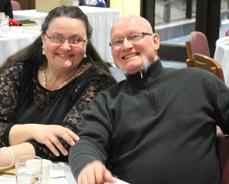 2015 Ladies Night 14 - Donna and Dale Gagnon - Feb. 14 2015.JPG