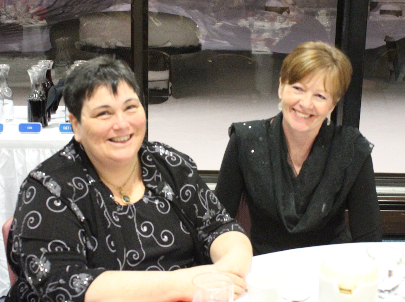 2015 Ladies Night 20 - Cathy McKinney and Tricia Sageloly - Feb. 14 2015.JPG