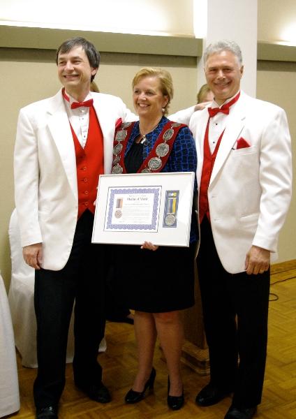 Accepting 2010 Medal of Merit from Mayor Debbie Amaroso - May 7 2011